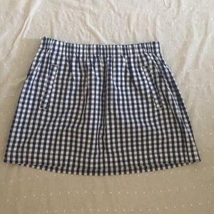 J Crew Gingham Skirt